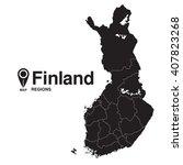 finland map regions. map of... | Shutterstock .eps vector #407823268