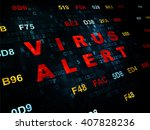 protection concept  pixelated... | Shutterstock . vector #407828236