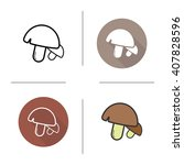 mushrooms icon. flat design ...