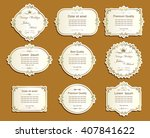 set of vector labels  cutout... | Shutterstock .eps vector #407841622