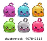 cute cartoon colorful kawaii...