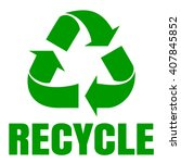 Recycle Green Symbol. Sign Of...