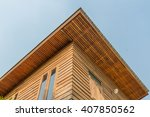 old brown wood house viewed... | Shutterstock . vector #407850562
