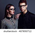 Eyewear Concept. Portrait Of...