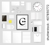 corporate identity template.... | Shutterstock .eps vector #407850772