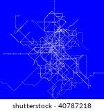 3 d illustration blueprint | Shutterstock . vector #40787218