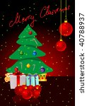 christmas background with... | Shutterstock .eps vector #40788937