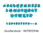 vector hand drawn font with... | Shutterstock .eps vector #407892946
