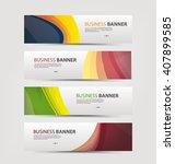 set of banner templates.   Shutterstock .eps vector #407899585