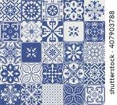 big set of tiles background....   Shutterstock . vector #407903788