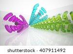 abstract glass interior. 3d...   Shutterstock . vector #407911492