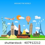 trip to world. travel to world. ... | Shutterstock .eps vector #407912212