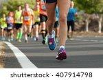 marathon runners race   Shutterstock . vector #407914798