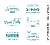 summer time logo templates.... | Shutterstock .eps vector #407919016