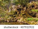 rock reliefs at feilai feng at... | Shutterstock . vector #407922922