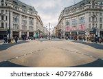 london nov 09 view of oxford... | Shutterstock . vector #407927686