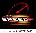 fast speed concept vector   Shutterstock .eps vector #407933455