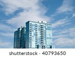 modern apartment building with... | Shutterstock . vector #40793650