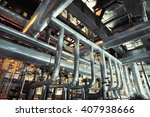 equipment  cables and piping as ... | Shutterstock . vector #407938666