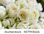 Stock photo white roses background 407945626