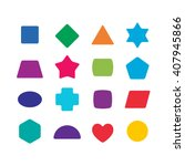 learning toys color shapes set... | Shutterstock . vector #407945866