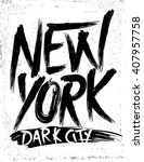 New York. One Color Slogan T...