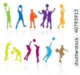 colored vector silhouettes of... | Shutterstock .eps vector #40795915