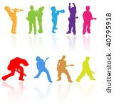 colorful vector silhouettes set ... | Shutterstock .eps vector #40795918