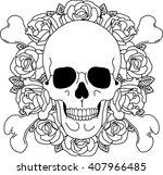 skull and crossbones | Shutterstock .eps vector #407966485