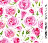 floral seamless pattern.pink... | Shutterstock . vector #407973376