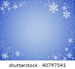 vector snowflake border | Shutterstock .eps vector #40797541