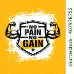 no pain no gain. gym workout... | Shutterstock .eps vector #407978752