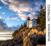 bass harbor lighthouse at... | Shutterstock . vector #407983012