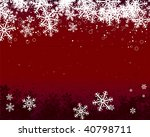snow flakes on red background | Shutterstock .eps vector #40798711