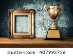 vintage frame with gold... | Shutterstock . vector #407992726
