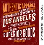 vintage denim label design  t... | Shutterstock .eps vector #407999218