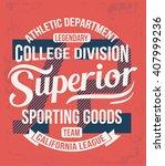 college california typography ... | Shutterstock .eps vector #407999236