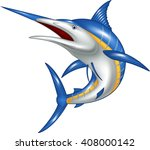 marlin fish cartoon   Shutterstock .eps vector #408000142