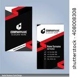 modern business card template ... | Shutterstock .eps vector #408008308