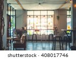 blur image of cafe in thailand. ... | Shutterstock . vector #408017746