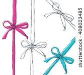 set of vector hand drawn... | Shutterstock .eps vector #408023485