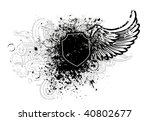 black shield and wing design... | Shutterstock .eps vector #40802677
