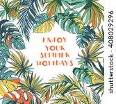 vector illustration tropical... | Shutterstock .eps vector #408029296