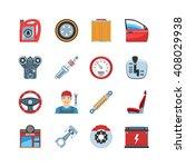 set of flat design auto service ... | Shutterstock .eps vector #408029938