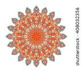 round mandala. arabic  indian ... | Shutterstock . vector #408032356
