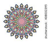 round mandala. arabic  indian ...   Shutterstock . vector #408032395