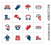 set color icons of personal... | Shutterstock .eps vector #408037198