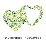 watercolor yellow flower and... | Shutterstock . vector #408039586