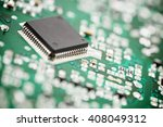 chip close up on a integrated... | Shutterstock . vector #408049312