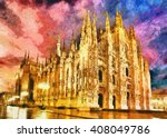 Milan Cathedral Church Duomo A...